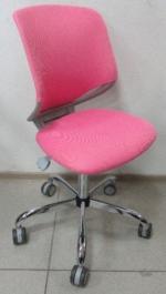 Бюрократ (BURO) Кресло KD-7 серый пластик, ткань розовая